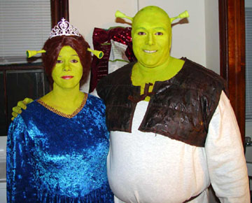 Mike and Dianna as Fiona and Shrek!